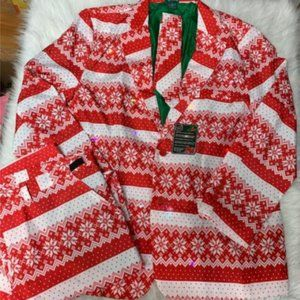 NEW Men's Ugly Christmas 3pc Suit - Snowflake Isle